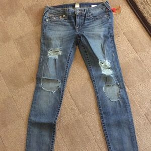 NWT True Religion Jeans ultra Distessed